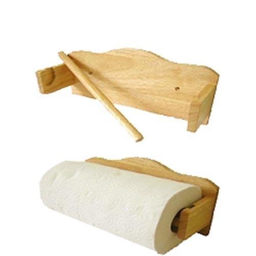 Držák na kuch.utěrky 26,5x8,5x13cm kaučuk.dřevo, závěsný