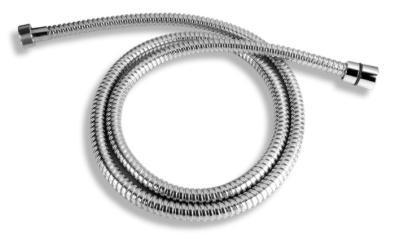Sprchová hadice kovová dvouzámková chrom 150cm