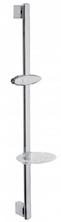 Posuvný držák sprchy s mýdlenkou chrom
