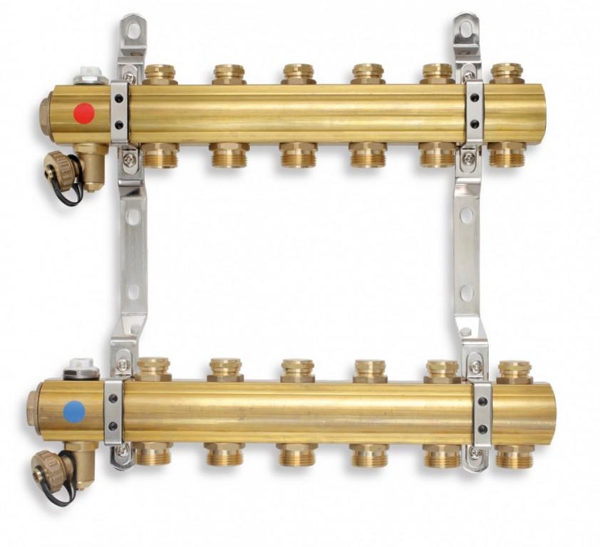 Rozdělovač s regulačními a mechanickými ventily 11 okruhů
