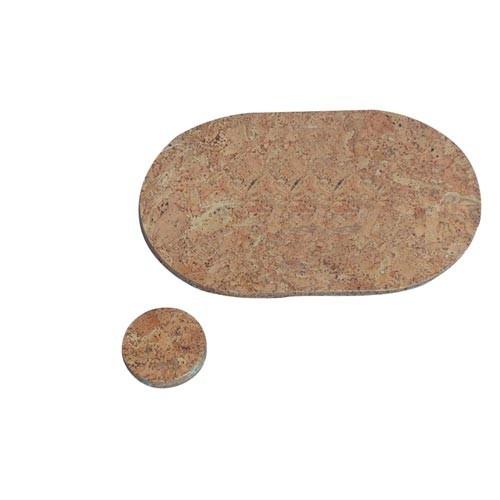 Prostírání kruh 10cm hl.korek (6ks)