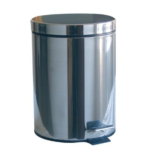 Koš odpadkový nášlapný 20l kulatý nerez, s vložkou PH