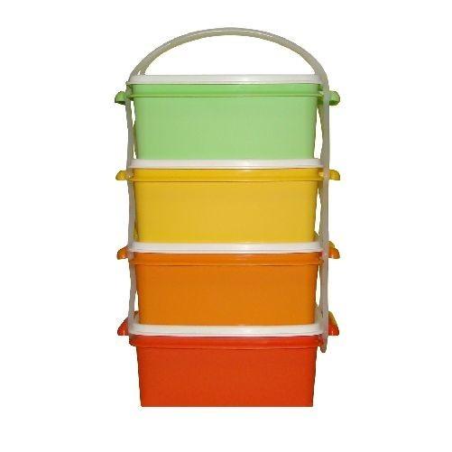 Jídlonosič 4x1,2l hranatý 17x15x25cm PH mix barev