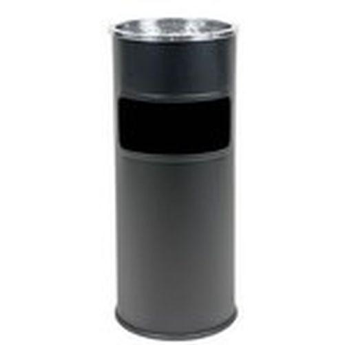 Koš odpadkový s popelníkem pr.25cm v.58cm kov. ČER