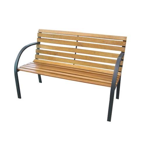 Lavička zahradní 122x64x80cm železo ČER/dřevo