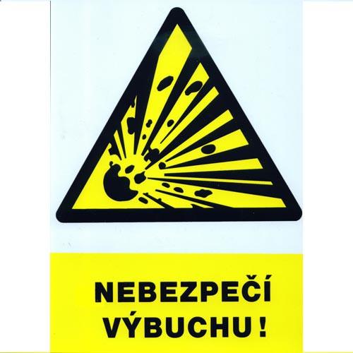 Tabulka - NEBEZPEČÍ VÝBUCHU !