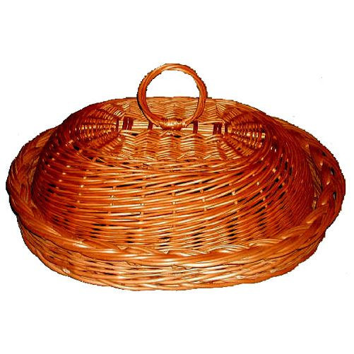 Chlebník oválný 43x33cm lakovaný