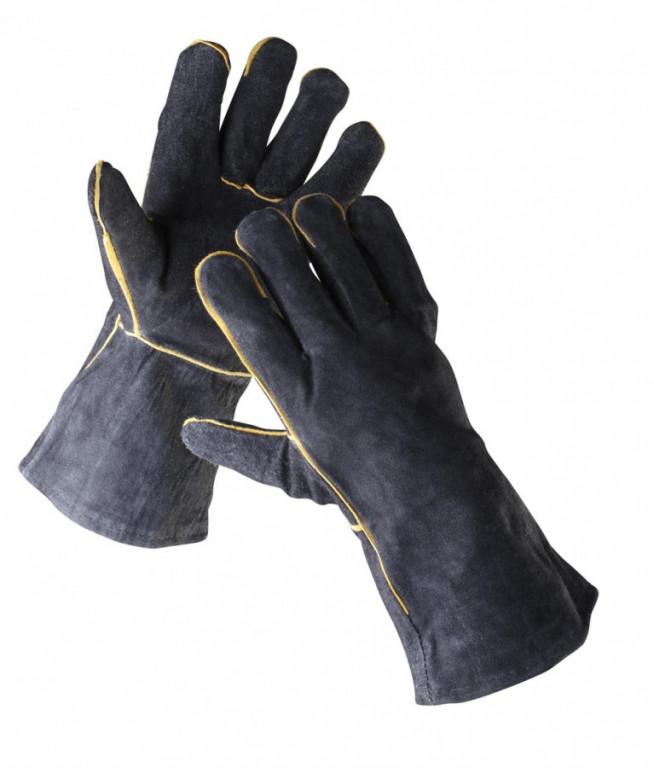 SANDPIPER BLACK rukavice celokože - 11