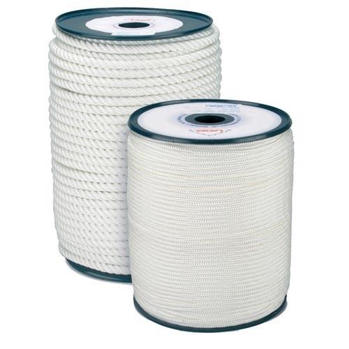 Šnůra PA s duší 3mm BÍ pletená (200m)