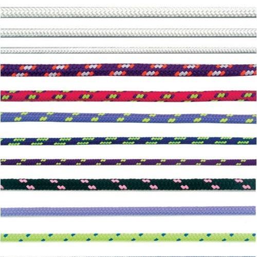 Šnůra PES s duší 4mm barevná pletená (200m)