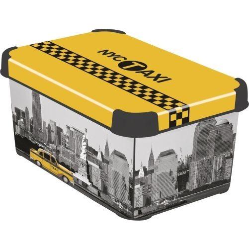Box úložný NEW YORK 29,5x19,5x13,5cm (S) s víkem, PH