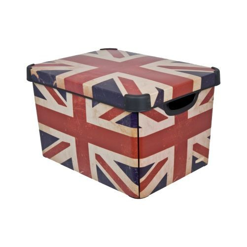 Box úložný BRITISH FLAG 40x30x23cm (L) s víkem, PH