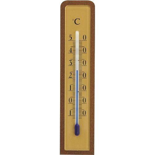 Teploměr pokojový 12cm dřev.mořený + PH