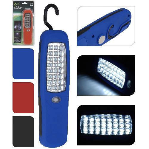 Svítilna 24 LED, magnet, mix barev