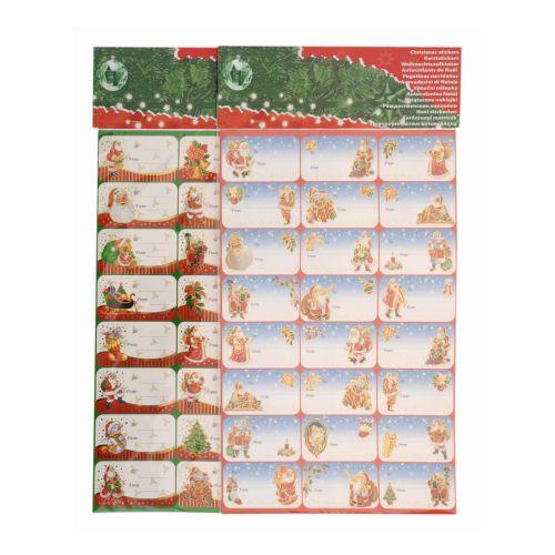Samolepky na dárky mix dekorů (2x24ks)