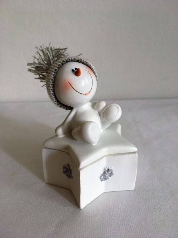 Dekorativní krabička sněhulák