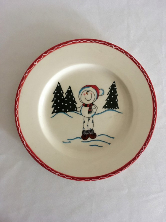 Dezertní vánoční talíř