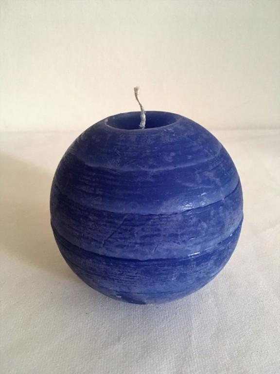 Svíčka koule modrá
