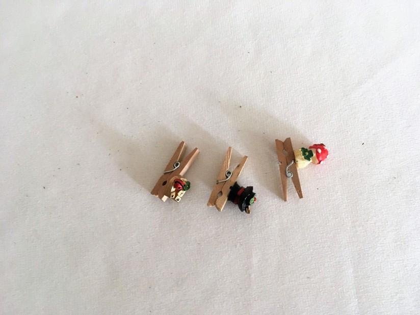 Malá dekorace kolíček mochomůrka