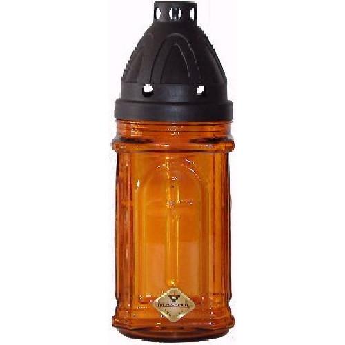 Lampa hřbitovní sklo 20cm + svíčka