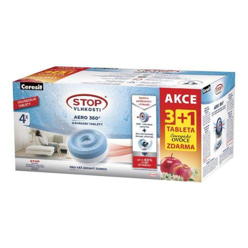 Náplň do pohlcovače vlhkosti CSV-AERO 360, 4x450g tableta, ovoce