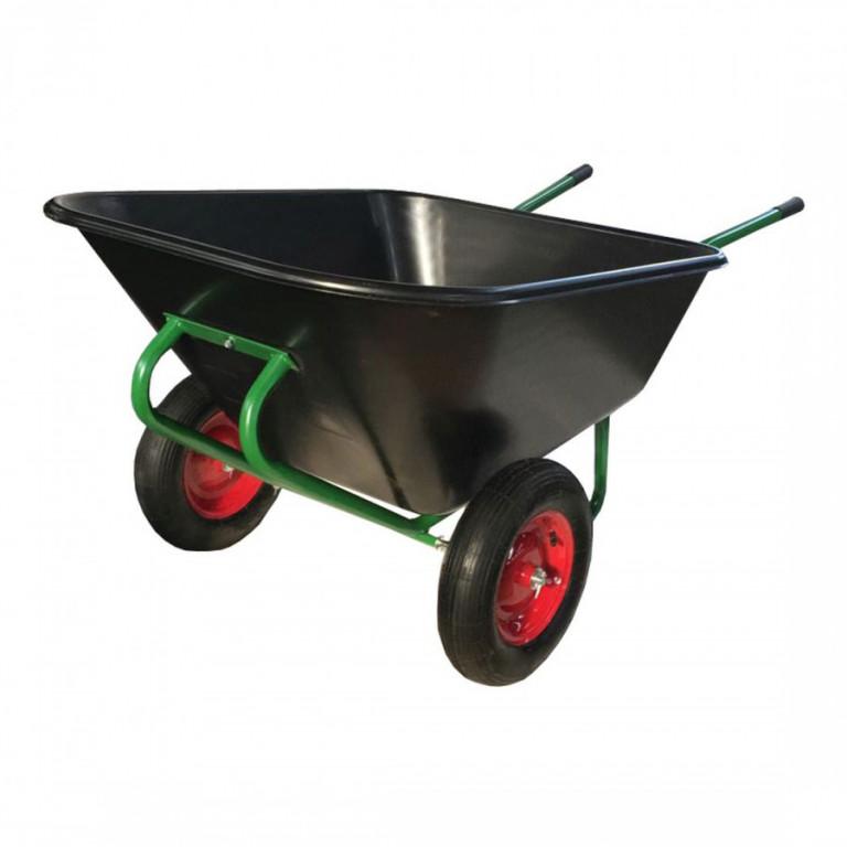 Kolečko zahradní dvoukolé 210l, 120kg, nafukovací 400-8, Zn