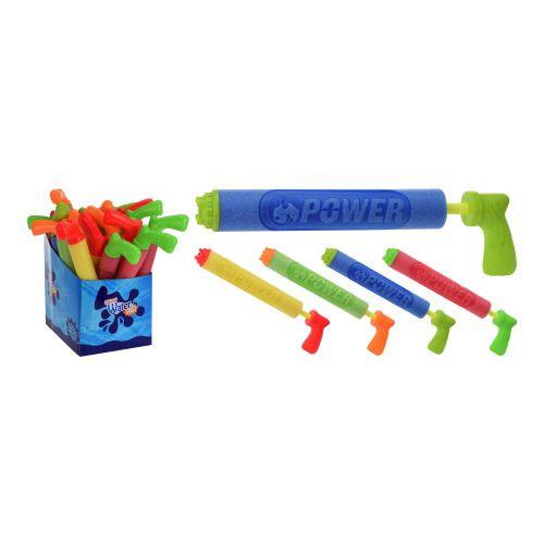 Pistole stříkací na vodu 39x5cm dětská mix barev