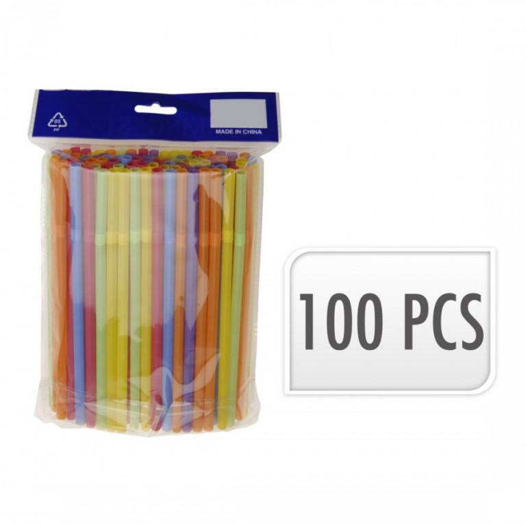 Brčka s kloubem NEON 7x210mm mix barev (100ks)
