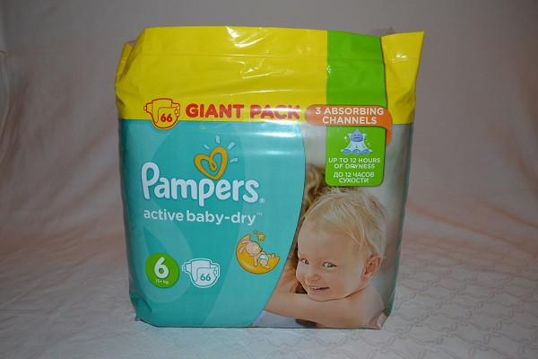 Pampers Giant Pack Extra Large S6 plenkové kalhotky