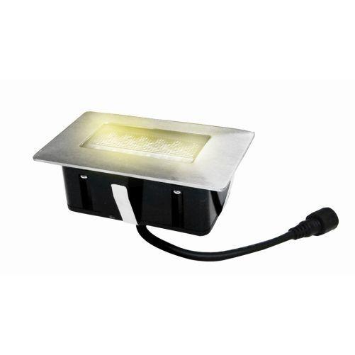 Svítidlo LED zápustné 10x 6cm, 1,5W, IP67 do dřeva
